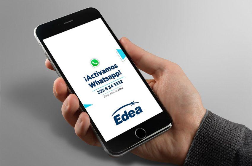 EDEA con nuevo servicio de atención por WhatsApp 24hs