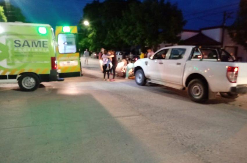 Accidente en Av. Colón y España